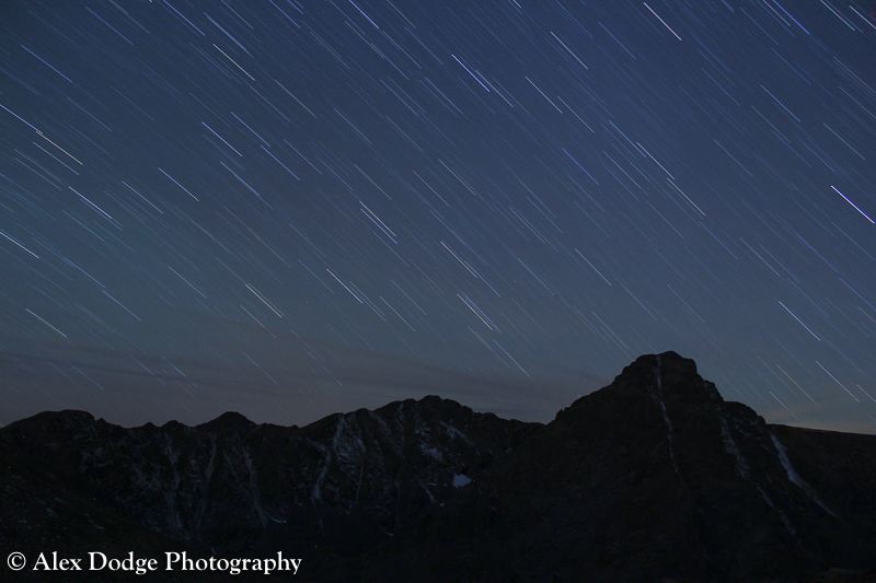 Dancing stars over Mount of the Holy Cross